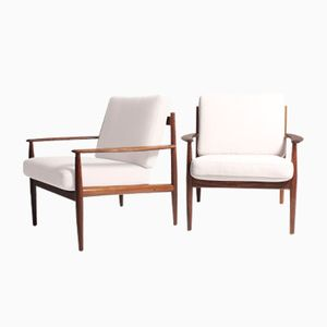 Mid-Century Lounge Chairs by Grete Jalk for France & Søn, Set of 2