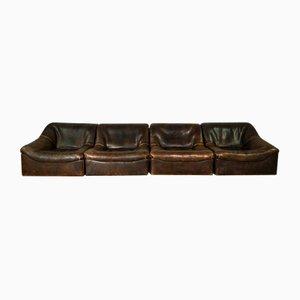 Modulares DS46 Büffelleder Sofa von de Sede, 1970er