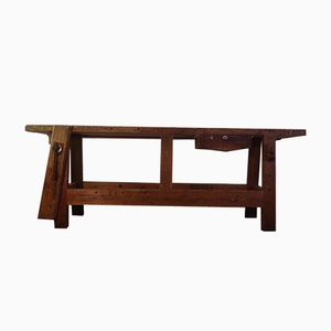 Large Vintage Oak Workbench, 1930s