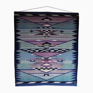 Handwoven Danish Tapestry by Mette Birckner, 1989