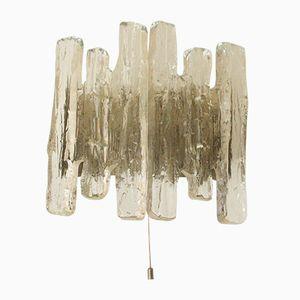 Lampada da parete in vetro smerigliato di J.T. Kalmar, anni '60