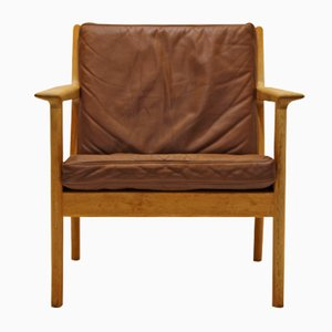 Vintage GE 265 Armchair by Hans J. Wegner for Getama