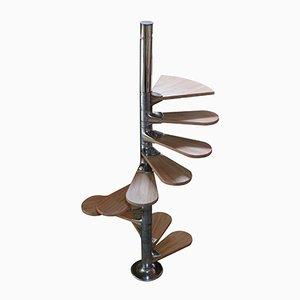 Scala a chiocciola di Roger Tallon per Galerie Lacloche, anni '70