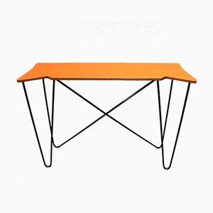 Vintage Orange Console Table, 1980s