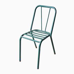 Chaise de Bistrot Vintage en Métal Vert , 1940s