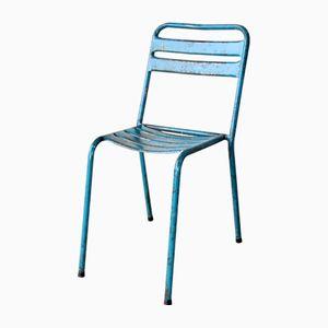Chaise de Bistrot Bleue Industrielle Vintage, 1960s