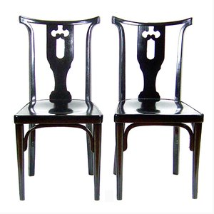 Viennese Side Chairs by Josef Hoffmann, 1914, Set of 2