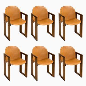 Esszimmerstühle von Tobia & Afra Scarpa für B&B Italia, 1970er, 6er Set