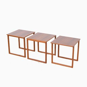 Side Tables by Kai Kristiansen for Vildbjerg Møbelfabrik, 1960s, Set of 3