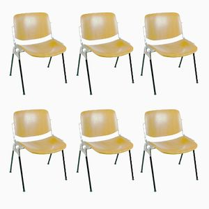 DSC 106 Chairs by Giancarlo Piretti for Castelli, 1960s, Set of 6