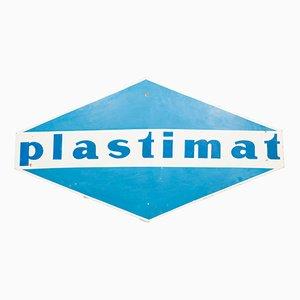 Vintage Metall Plastimat Schild