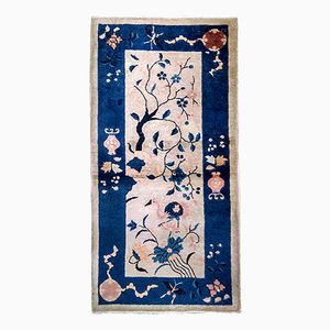 Antique Handmade Chinese Peking Rug, 1900s
