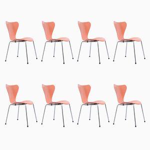 Stühle von Arne Jacobsen für Fritz Hansen, 1950er, 8er Set
