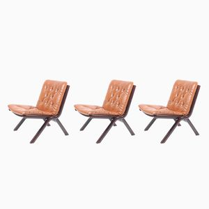 Mid-Century Lounge Chairs, Set of 3
