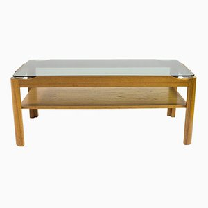 Teak & Smoked Glass Coffee Table from Myer, 1960s