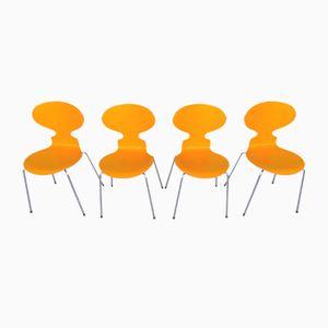 Modell 3101 Stühle von Arne Jacobsen für Fritz Hansen, 1980er, 4er Set