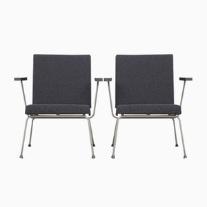 1401 Easy Chairs by Wim Rietveld for Gispen 1950s, Set of 2