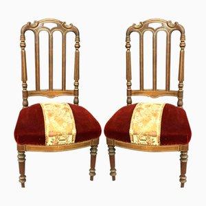 Antique Napoleon III Chairs, Set of 2