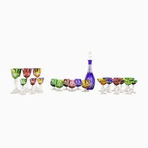 Crystal Glasses & Carafe Set from Nachtmann, 1970s