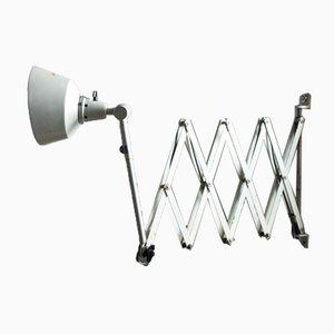 Large White Scissor Lamp by Curt Fischer for Midgard