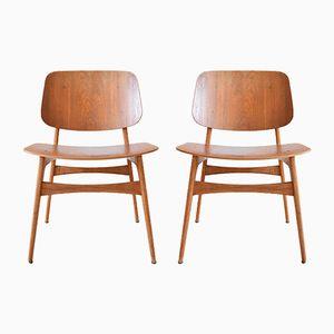 Model 155 Søborg Chairs by Børge Mogensen for Fredericia, 1950s, Set of 2