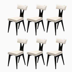 Italian Chairs by Gianni Vigorelli, 1950s, Set of 6