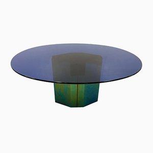 Blauer Polygonon Tisch von Afra und Tobia Scarpa für B&B Italia, 1985