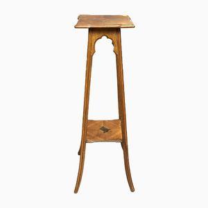 Tavolino antico Art Nouveau in legno di noce