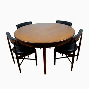 Dining Table and 4 Chairs by Ib Kofod-Larsen for G-Plan, 1960s