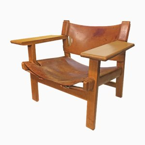 Modell Spanish Armlehnstuhl von Børge Mogensen für Fredericia