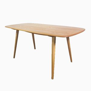 Vintage Plank Elm Dining Table by Lucian Ercolani for Ercol, 1960s