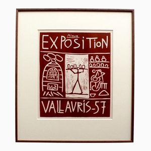 Picasso Vallauris Ausstellungs-Poster von Mourlot Bros, 1957