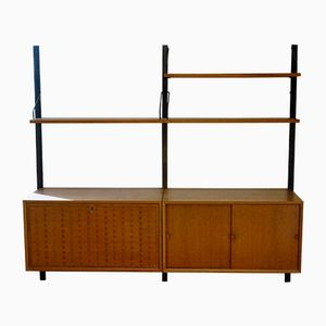 Mid-Century Teak Wall Unit by Poul Cadovius for Cado