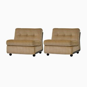 Amanta Lounge Chairs by Mario Bellini for B&B Italia, 1970s, Set of 2