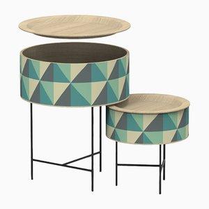 Tables d'Appoint Gigognes Tabouret par Zpstudio pour Dialetto Design