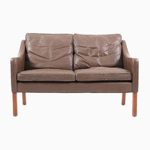 Model 2208 Leather Sofa by Børge Mogensen for Fredericia, 1960s