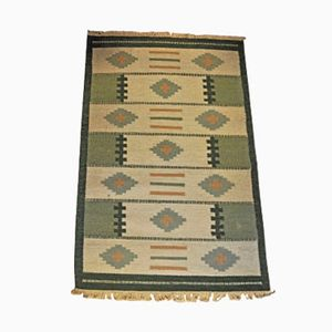 Skandinavischer Mid-Century Rollakan Teppich