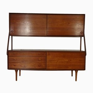 Teak Highboard by Takashi Okamura for O. Bank Larsen, 1950s