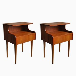 Mid-Century Danish Nightstands, 1960s, Set of 2