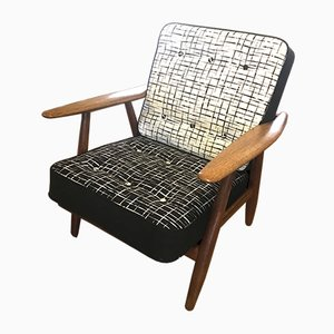 Mid-Century GE240 Cigar Chair by Hans J Wegner for Getama