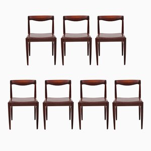 Rosewood Side Chairs by H.W. Klein for Bramin, 1960s, Set of 7
