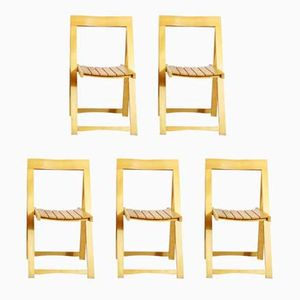 Vintage Folding Chairs by Aldo Jacober for Alberto Bazzani, Set of 5