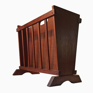 Danish Modern Double-Sided Teak Magazine Rack, 1960s