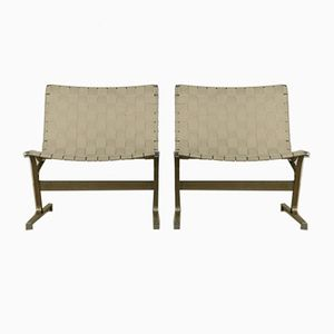Vintage PLR1 Side Chairs by Ross Littell for ICF, Set of 2