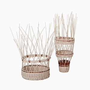 Voodoo Wicker and Copper Baskets by Simone Fanciullacci for Edizione Limitata, Set of 2