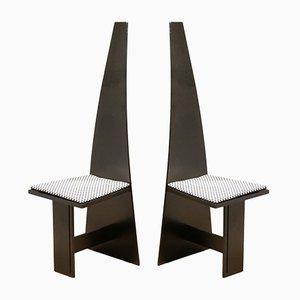 Moderne Kubische Schichtholz Stühle, 1930er, 2er Set