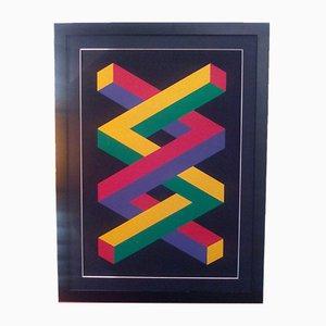 Sérigraphie Geometries Impossible par Jose Maria Yturralde, 1988
