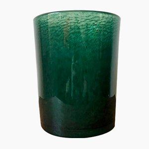 Large Forest Green Bubble Glass Vase from Ekenäs Glasbruk, 1960s