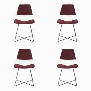 Chaises de Salon en Métal par Cees Braakman pour Pastoe, 1950s, Set de 4