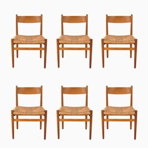 Scandinavian Dining Chairs by Hans J. Wegner for Carl Hansen & Søn, 1950s, Set of 6